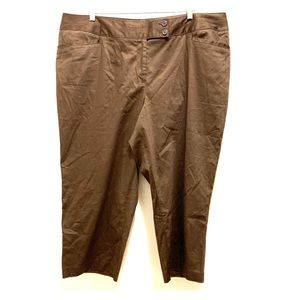 Lane Bryant Brown Dress Capri Pants